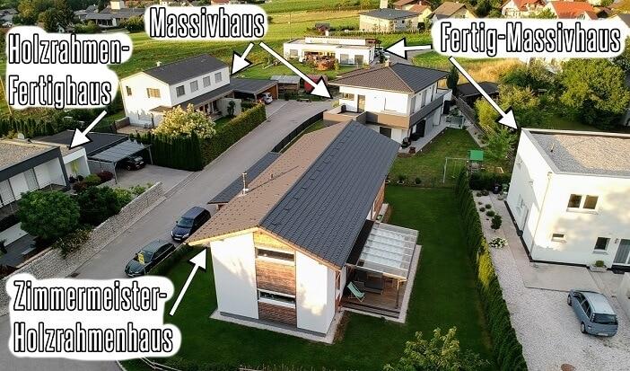 Welche verschiedenen Bauweisen und Haustypen gibt es für Einfamilienhäuser?