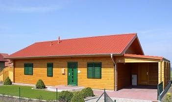 leichte Bauweise - Blockhaus