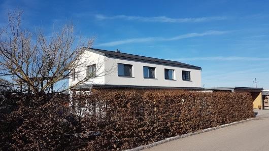 Haus in energiesparender Bauweise