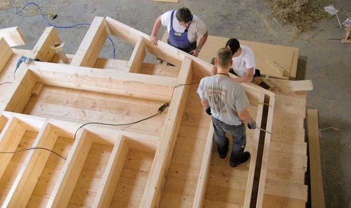 leichte Bauweise, der Holzrahmenbau