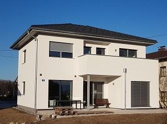 Haus in Holzrahmenbauweise mit Putzfassade