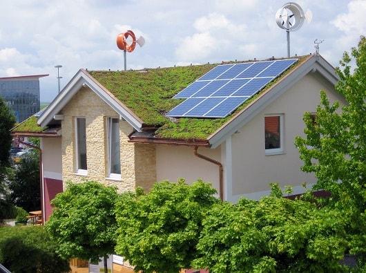 nachhaltig gebautes Haus
