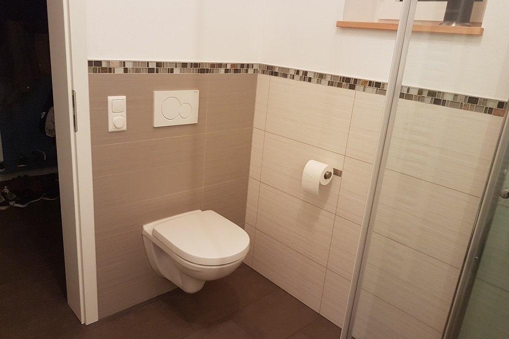 unser Badezimmer im Erdgeschoss