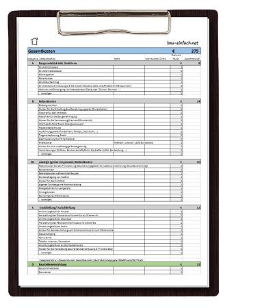 Bau Einfach Kostencheckliste