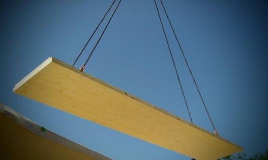 Brettsperrholz BSP oder auch Cross Laminated Timber (CLT)