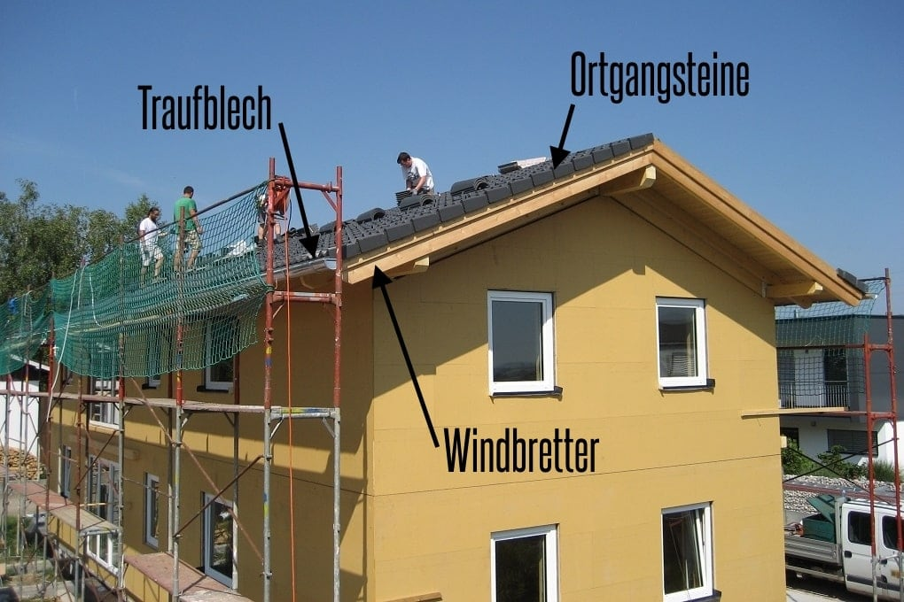 Windbretter, Ortgangsteine und Betondachsteine