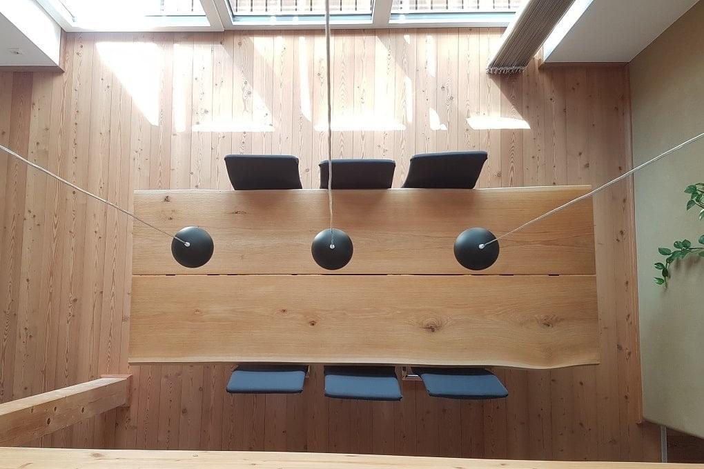 unser Esstisch aus Eichenholz