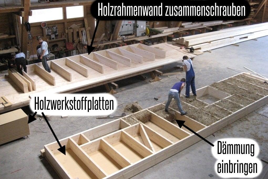 Holzhaus abbinden mit viel Eigenleistung