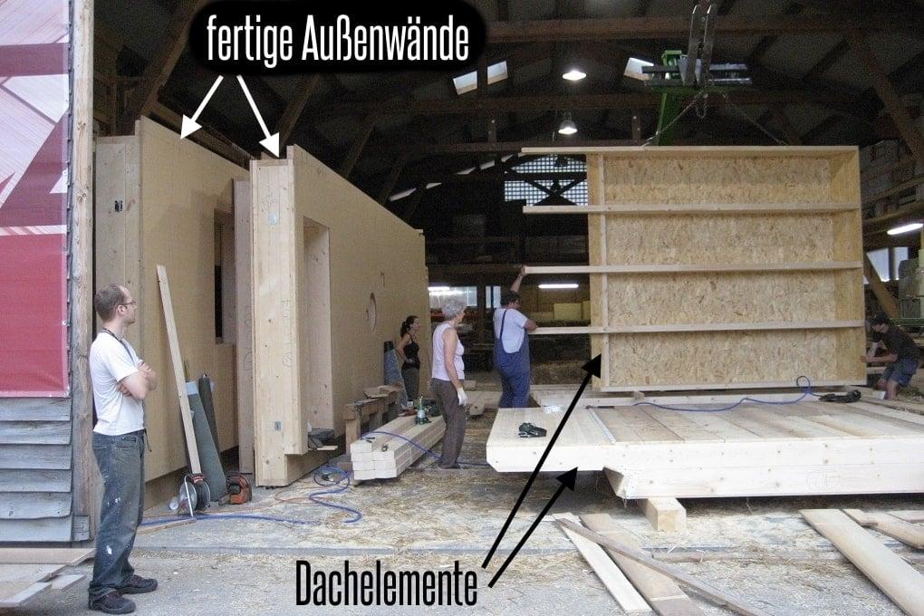 vorgefertigte Holzrahmen-Elemente