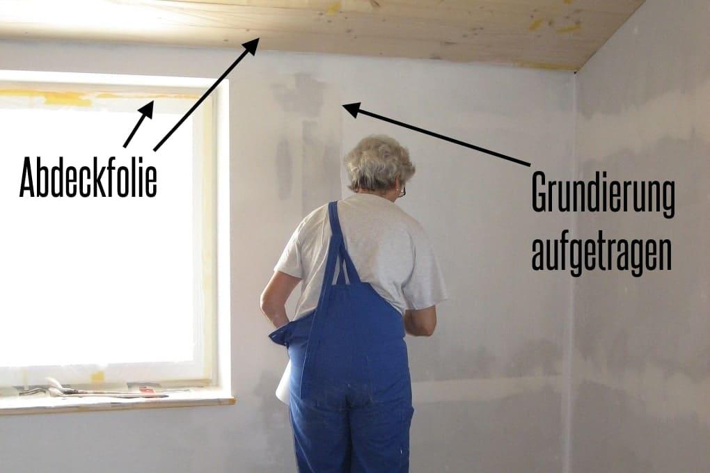 Malerarbeiten im Holzhaus selber durchführen