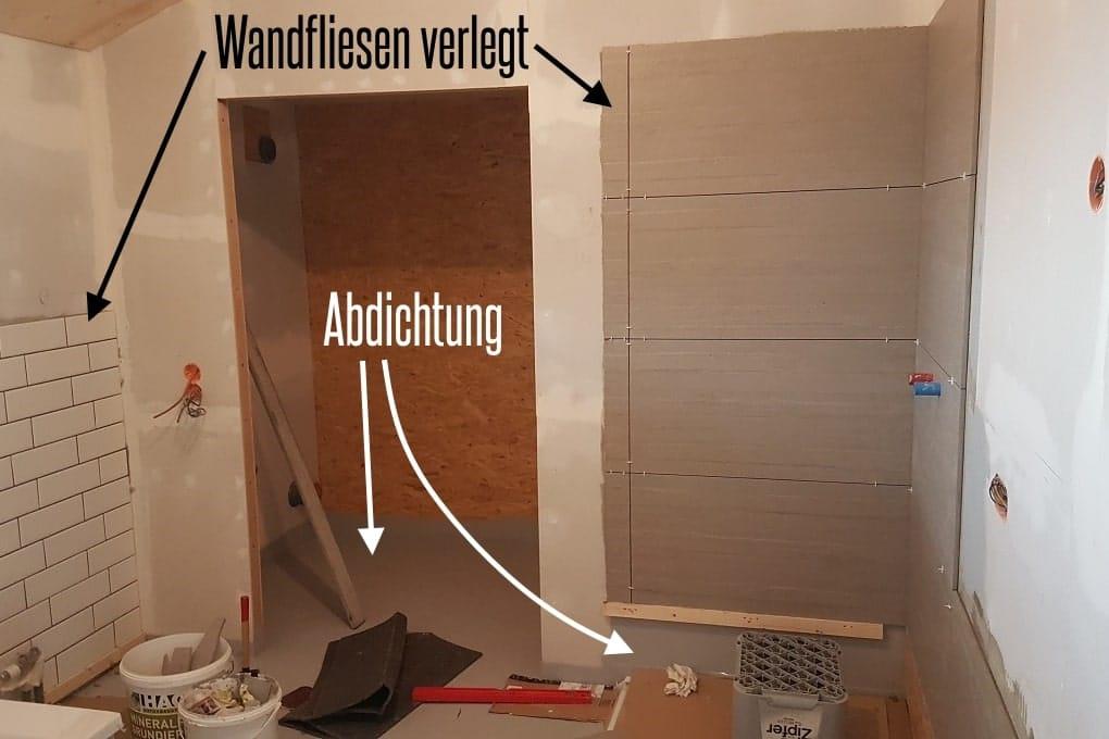 Boden und Wände im Badezimmer selbst abdichten