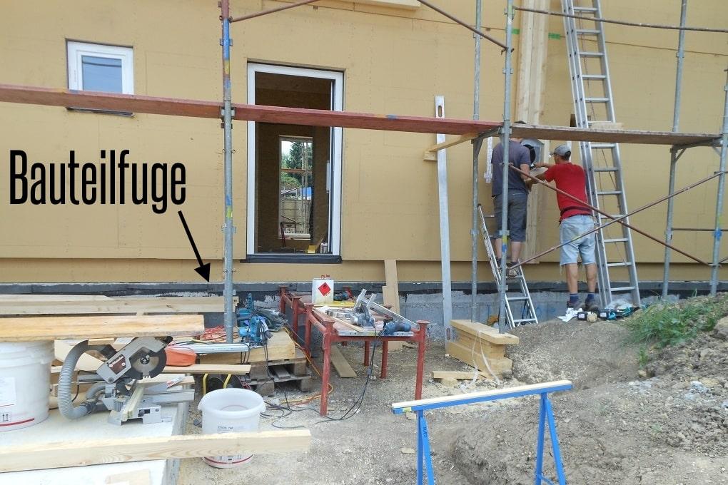 Bauteilfuge beim Holzhaus