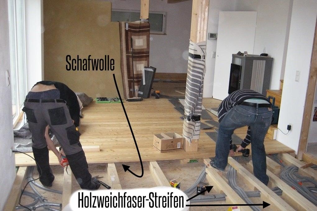 Schiffboden im Holzhaus selber verlegen