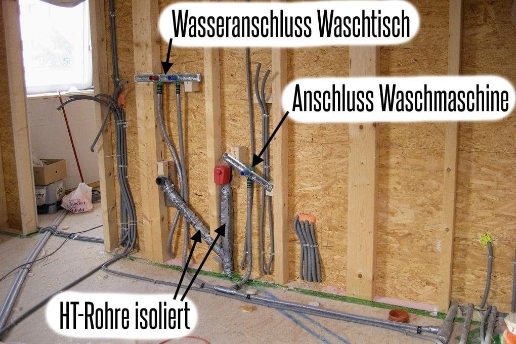 Wasserinstallationen im Holzhaus