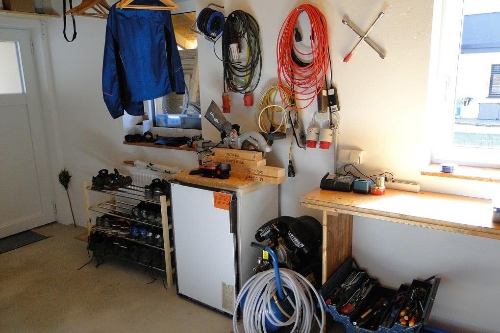 Lagerraum und Werkzeug