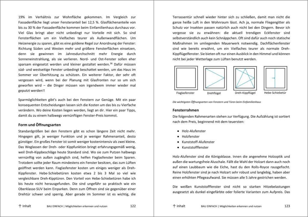Blick ins Bau-Einfach Handbuch Seite 122 und 123
