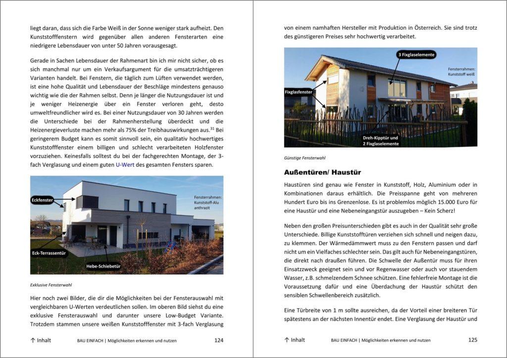 Blick ins Bau-Einfach Handbuch Seite 124 und 125