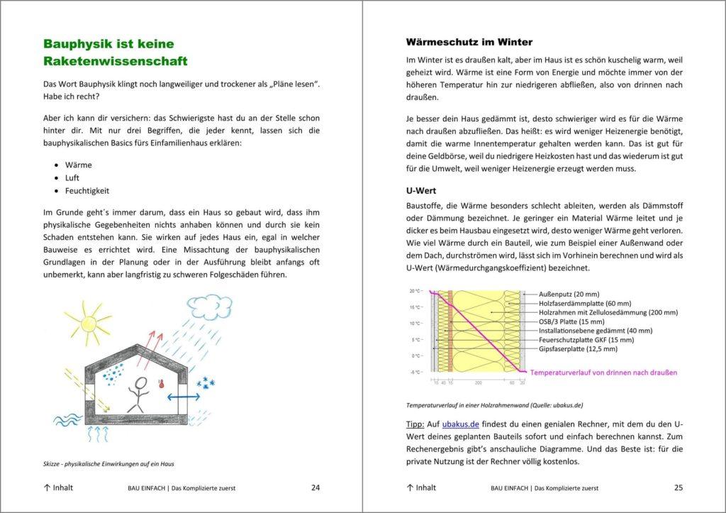 Blick ins Bau-Einfach Handbuch Seite 23 und 24